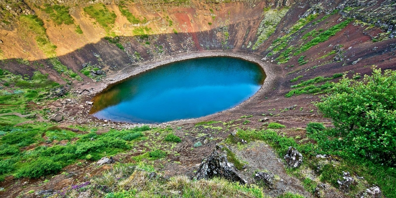 凯瑞斯Kerið火山口湖 (3)